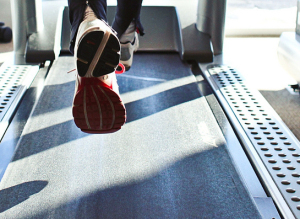 feet on treadmill